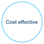 Cost effective debt recovery icon