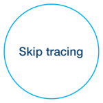 Skip tracing icon